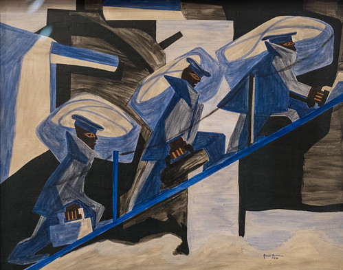 Jacob Lawrence, War Series: Another Patrol, 1946 1/15/18 #whitneymuseum