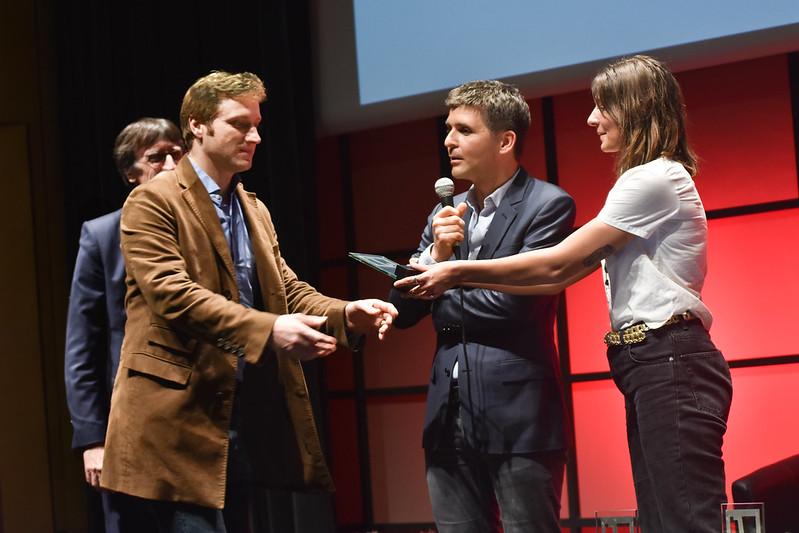 Samuel Forey reçoit son prix. Photo : Malvina Raud