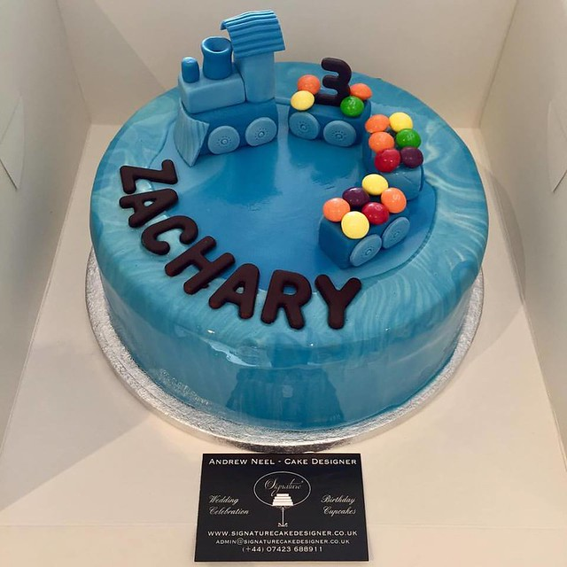Praliné Cake with Train Topper by Signature Cakes - Andrew Neel