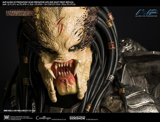 CoolProps《異形戰場》刀疤終極戰士 AVP Scar Predator 1:1 比例複製胸像作品