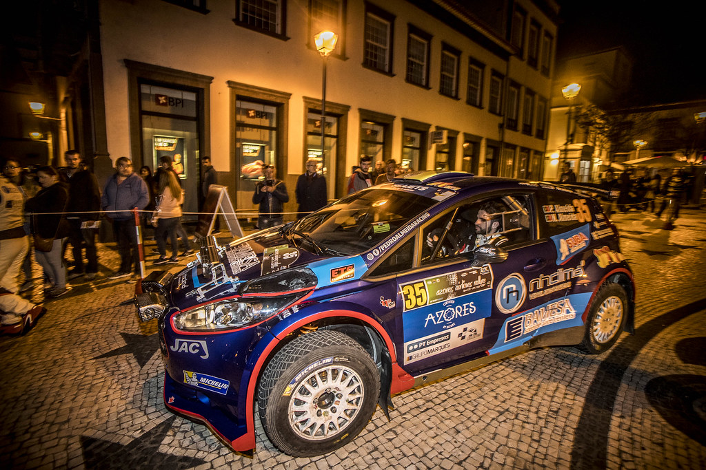 35 ALMEIDA Pedro(prt) ALMEDA Nuno ( prt), SKODA FABIA S2000, portrait during the 2018 European Rally Championship ERC Azores rally,  from March 22 to 24, at Ponta Delgada Portugal - Photo Gregory Lenormand / DPPI