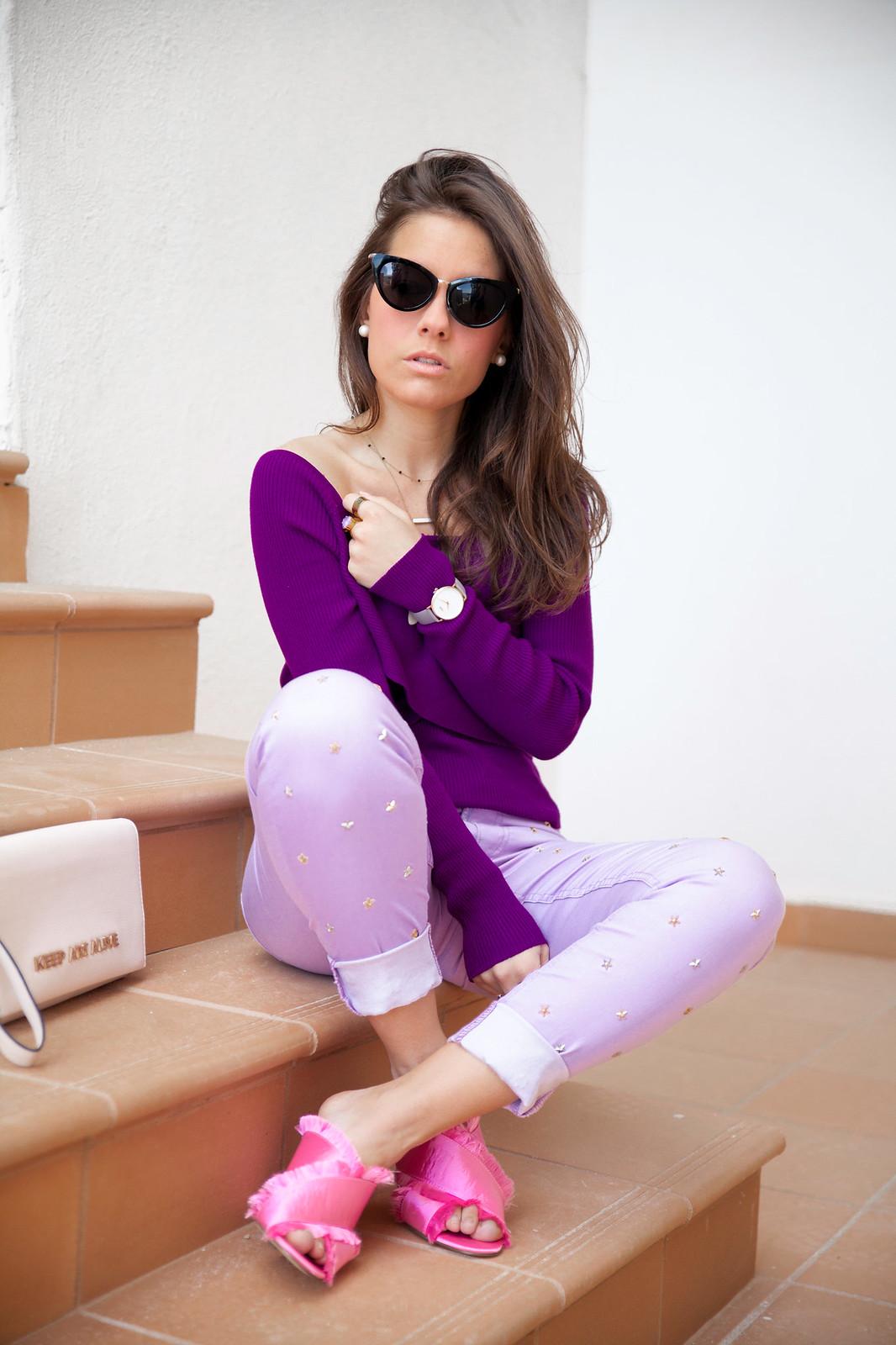 utra violet color del año 2018 Pantone outfit violeta theguestgirl fairy tales Highly Preppy ss18 Barcelona Brand Ambassador