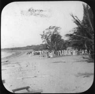 View of the beach at the Mapoon Presbyterian Mission, 1914