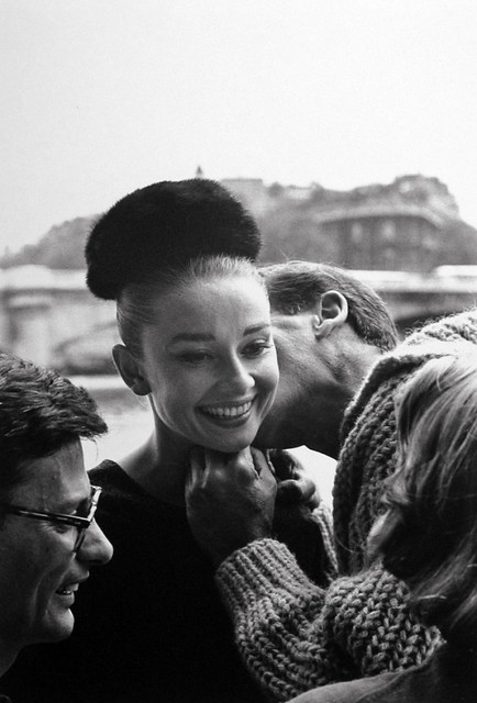 Audrey Hepburn and Richard Avedon, Photo by Henry Wolf,  1959