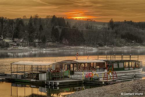 Sunset in Saalburg