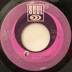 GLADYS KNIGHT AND THE PIPS:IF I WERE YOUR WOMAN(LABEL SIDE-A)