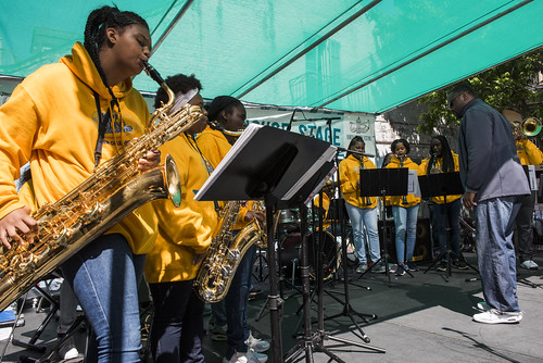 KIPP Believe College Prep perform during French Quarter Fest 2018 on April 15, 2017. Photo by Ryan Hodgson-Rigsbee RHRphoto.com