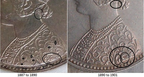 British Indian coinage C3 bust details