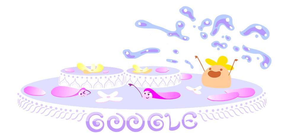 Google Doodle (an animated gif) for Songkran 2018