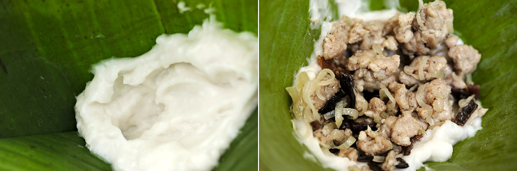 Banh Gio Dumpling Banana Leaf Filling | platedpalate.com