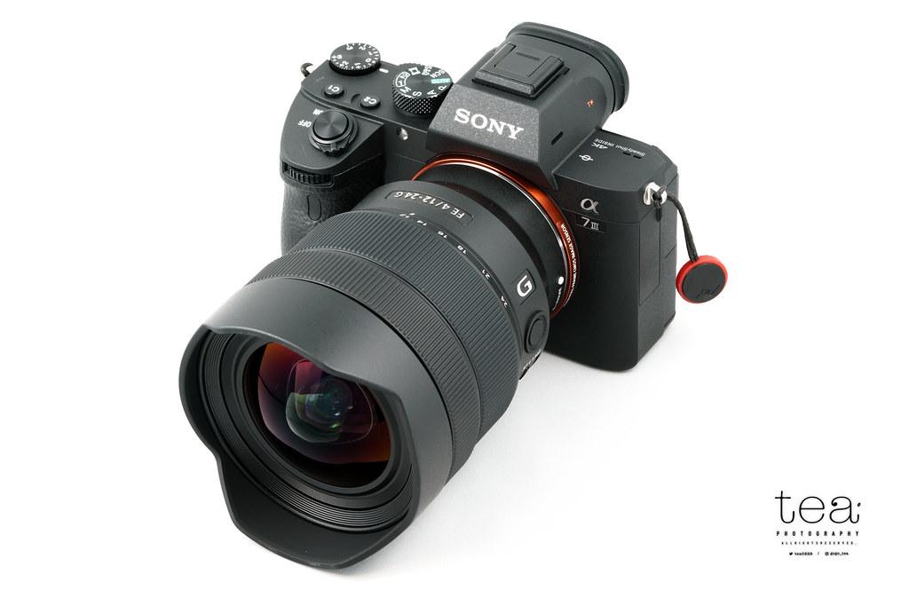 Sony α7IIIとレンズFE 12-24mm F4 Gの装着例