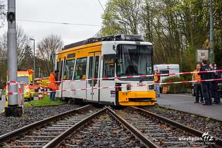 Straßenbahnunfall Mainz 11.04.18