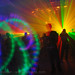 DSC08767 - Laser Show - lights and shadows in warehouse underground rave party