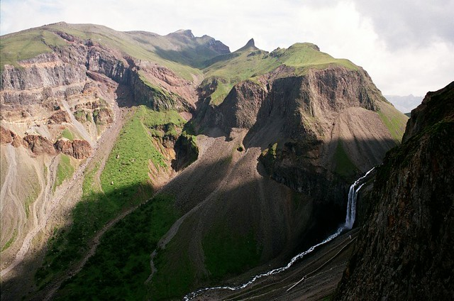 tianchi waterfall, changbai shan