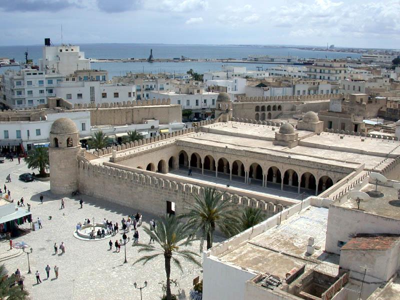 Vue de Sousse en Tunisie
