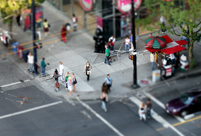 corner faux tilt-shift