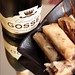 Gosset Champagne and Duck Rolls
