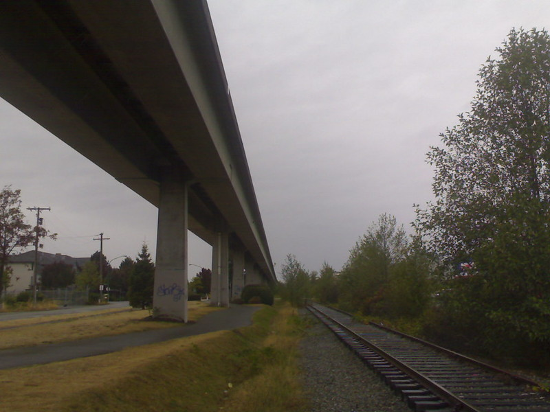 SkyTrain Track and Unused Right-of-Way Near Royal Oak Station