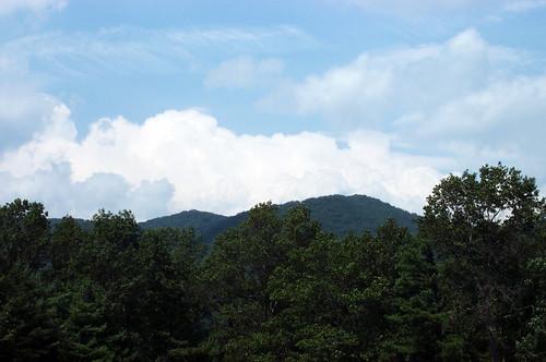blue trees mountains clouds virginia 2006 va bathcounty