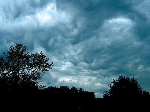 Dark Clouds over Huntington, Indiana