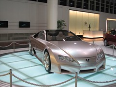 automobile, automotive exterior, exhibition, wheel, vehicle, automotive design, lexus, auto show, bumper, concept car, land vehicle, luxury vehicle, supercar, sports car,