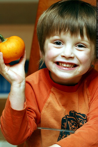 miniature pumpkin, miniature person    mg 1705