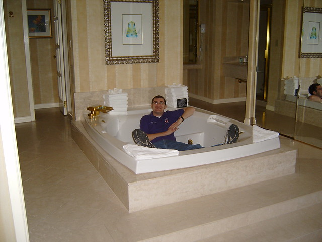 Suite In Ballys Las Vegas Posing In The Jacuzzi In Our