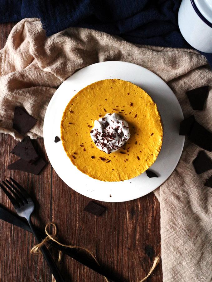 全素免烤南瓜派 (無麵粉) vegan-no-bake-pumpkin-pie (8)
