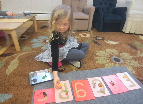 "letter sound sort - ""All the pretty ones are on the uppercase letters"""
