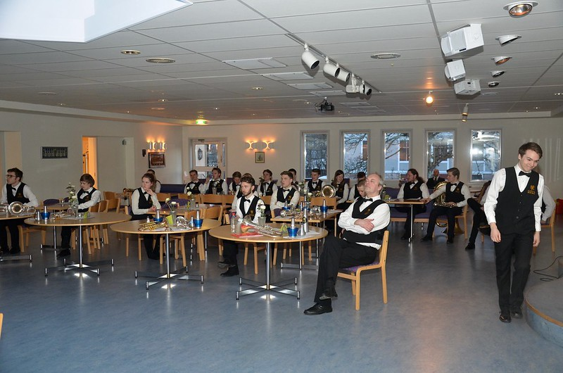 Göta Brass Band väntar på sin tur.