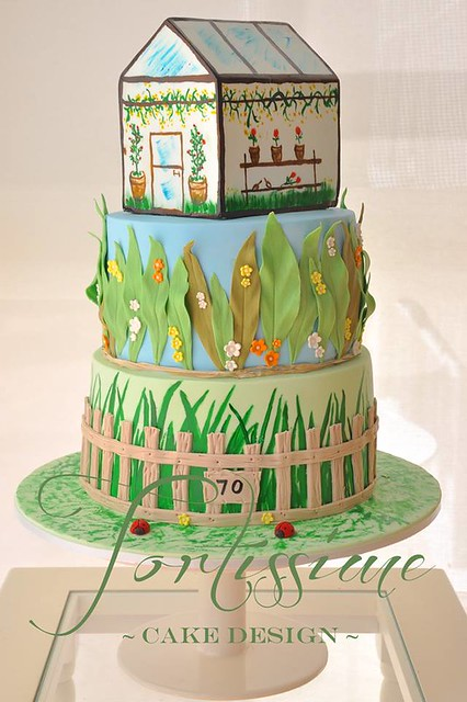 Greenhouse Garden Cake by Tortissime