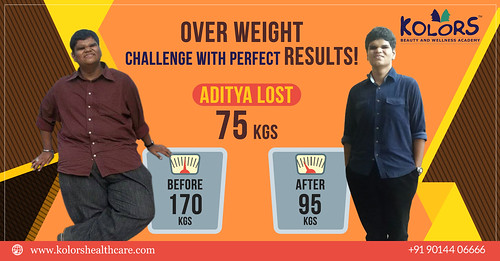 Kolors Srinagar Colony (#Hyderabad ) Client - Aditya loses tremendous 75 Kgs