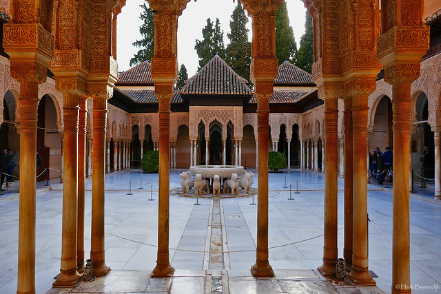 Spain: Granada, the Alhambra, Court of the Lions