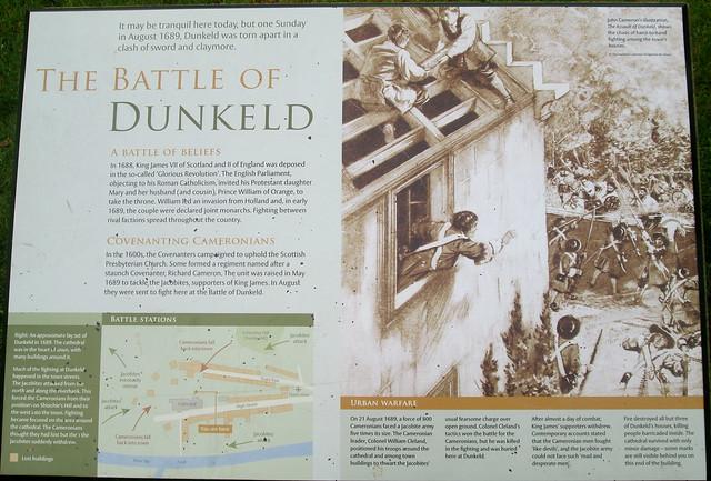 Battle of Dunkeld Information Board