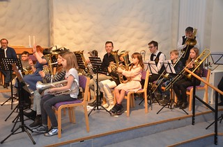 Bariton och tromboner i Framåt brassgänget