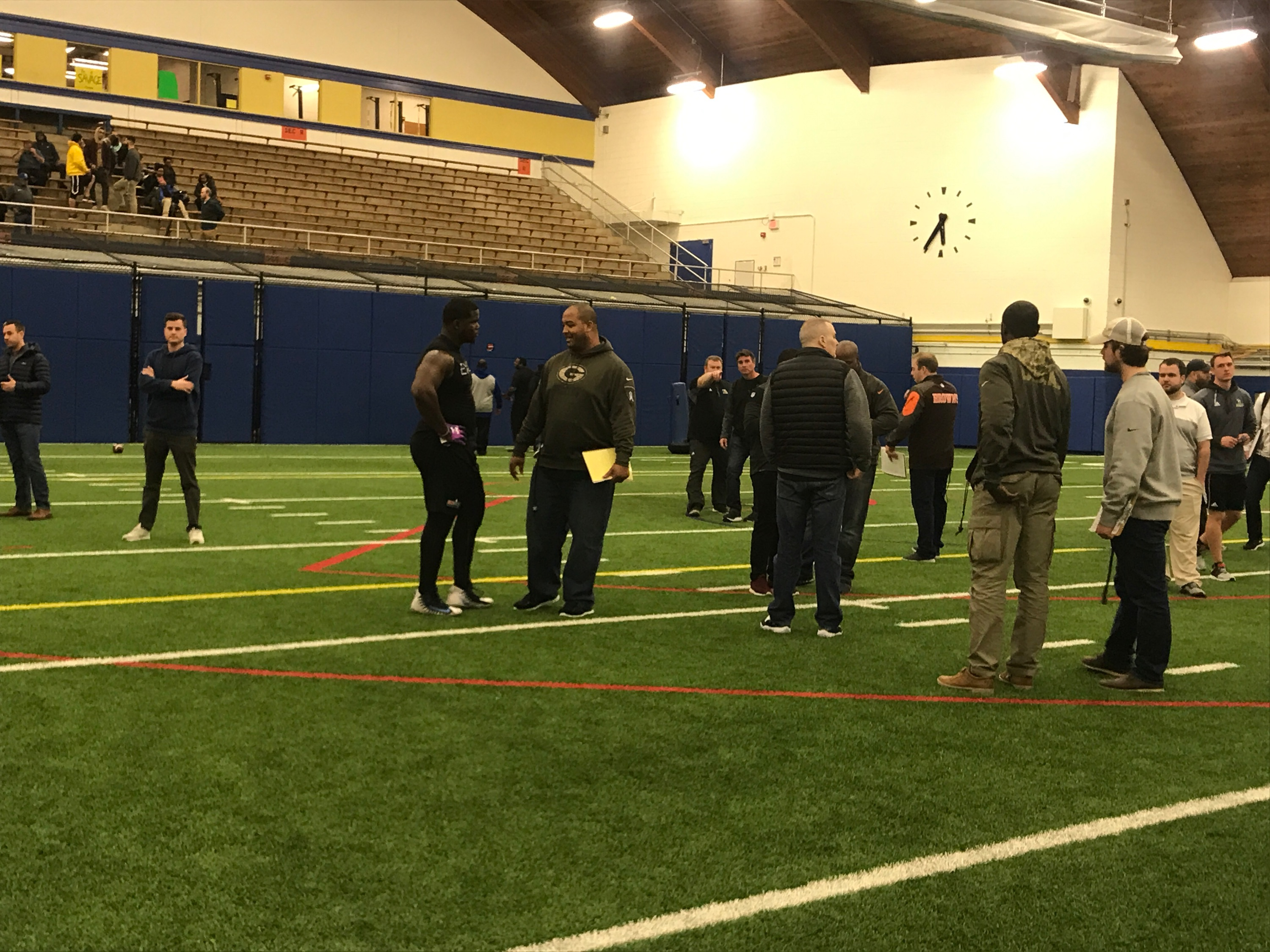 Delaware teammates tackle NFL Pro Day