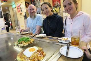 Okonomiyaki at Hiroshima's Okonomiyaki Forest