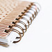 Close up of spiral of notebook by wuestenigel