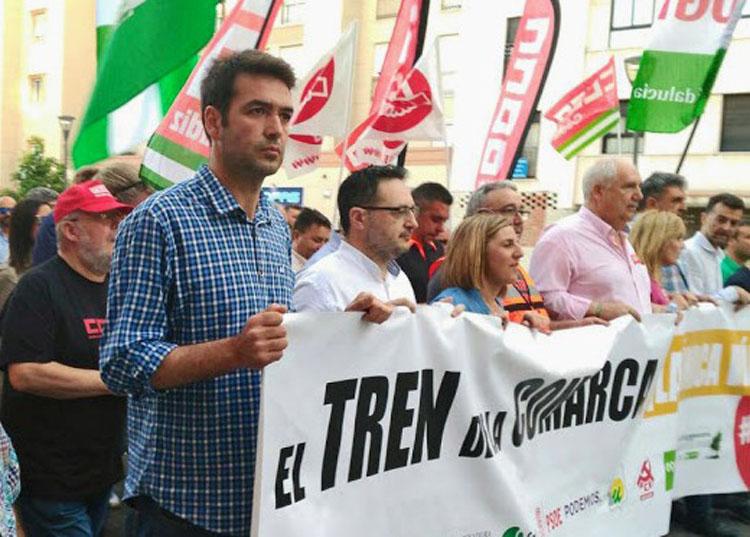 AxSí tren Algeciras Bellido cabecera manifestación  por  el tren andaluz b2