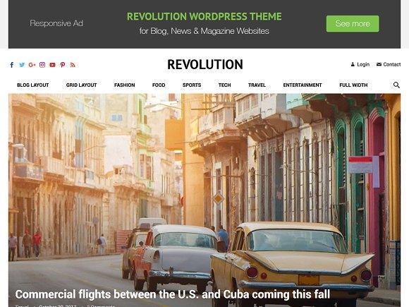 Revolution v1.1 - WordPress Magazine Theme