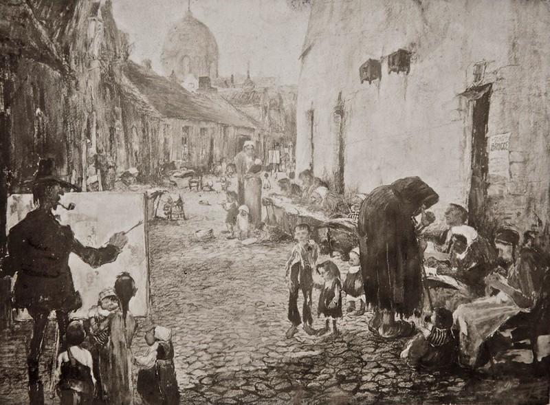 Jules De Bruycker - The Rolweg in Bruges,  1907