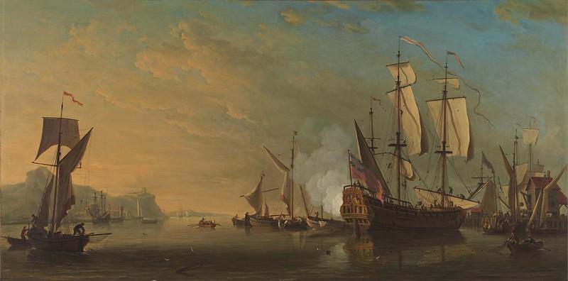Samuel Scott - Shipping off Dover (1738)