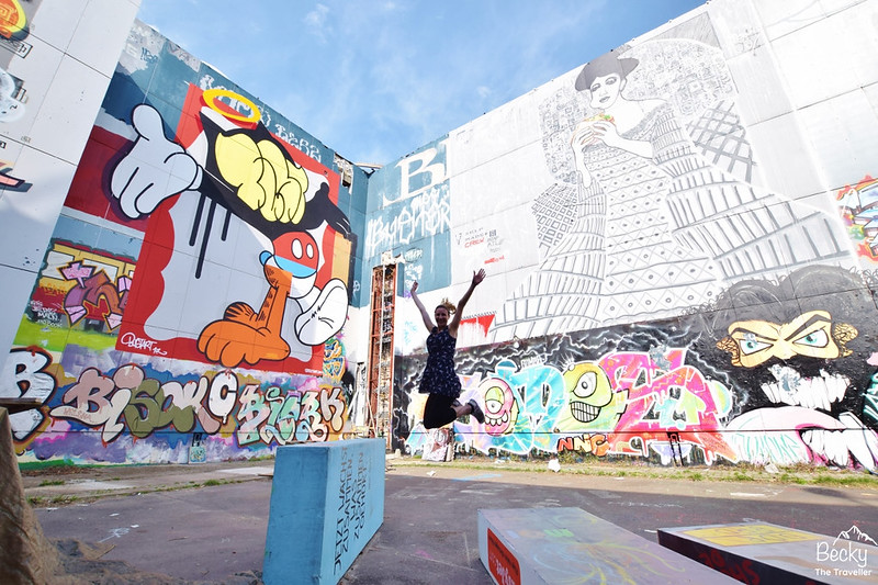 My iconic jumping photo at Teufelsberg!