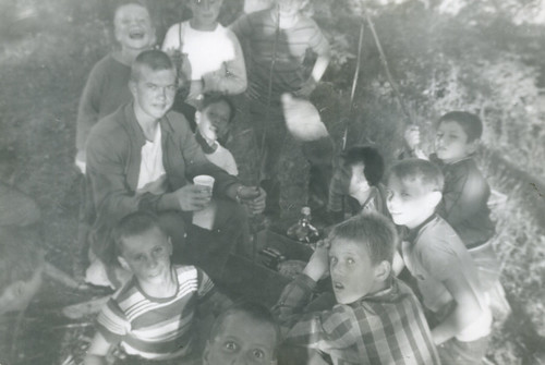 Bob as a camp counselor; Union League Boys Camp; Salem WI; summer 1962