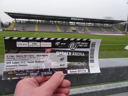 VfR Aalen 1921 1:0 F.C. Hansa Rostock