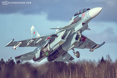 """Su-30SM during """"Ladoga 2018""""  at Besovets Air Base, Petrozavodsk, Russia by The best from aviation"""