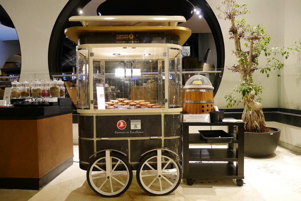 土航CIP Lounge芝麻圈餐車