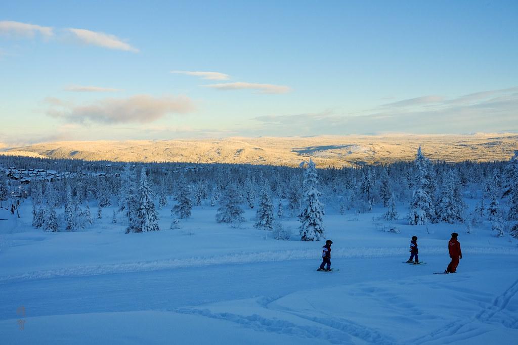 Ski lessons on piste 41