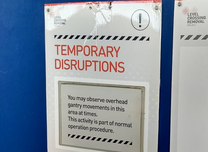 Murrumbeena Station notice