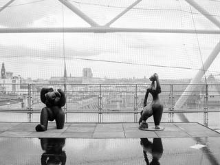 Rooftop Sculptures, Centre Pompidou 5/27/09